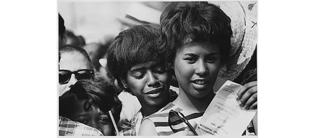 Young women at the march, 08/28/1963 (National Archives Identifier 542022)