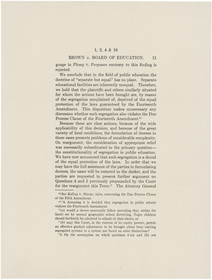 a history of the brown vs the board of education case Home - collections - virginia history explorer - civil rights movement in virginia - brown i and brown  brown et al v board of education  the case if the.