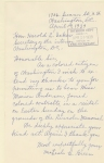 Letter from Mrs Leale C Green to Hon Harold Ickes