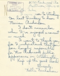 Letter from Nellie Neuhousen to Mr Ickes