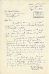 Letter from Richard Gates to Mr Harold Ickes