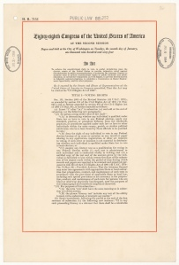 Civil Rights Act of 1964 (pg. 1)