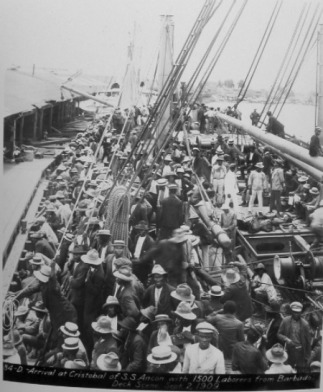 Image result for photos of west indian workers panama canal construction
