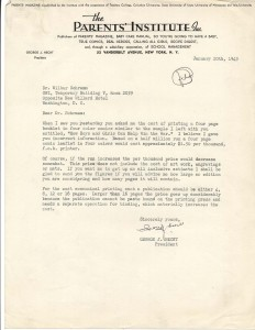 Letter from George Hecht to Wilbur Schramm, OWI, 1/20/1943