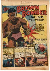 "True Comics #5, ""The Brown Bomber"" [copyright: Parents' Magazine Press, October 1941]"" p.1"