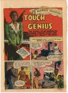 """Touch of Genius,"" Calling All Girls  [copyright, Parents' Magazine Press, August 1945] p. 1"