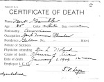 Bert Gamble, from series Death Certificate Cards (NAID 7408557)