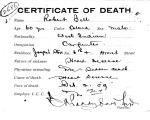 Robert Bell, from series Death Certificate Cards (NAID 7408557)
