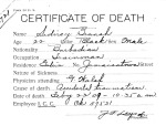 Sidney Branch, from series Death Certificate Cards (NAID 7408557)