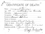 Margaret Garvey, from series Death Certificate Cards (NAID 7408557)