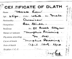 Horace Keen, from series Death Certificate Cards (NAID 7408557)