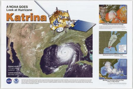 A National Oceanic and Atmospheric Administration (NOAA) Geostationary Satellite Server (GOES) Look at Hurricane Katrina (NAID 17394063)