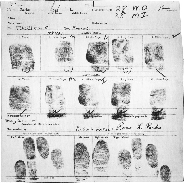 Fingerprint Card of Rosa Parks (641627)