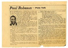 """Paul Robeson """"Plain Talk"""" 9/27/1947 (NAID 77886666)"""